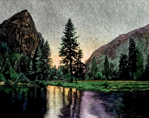 Merced River, Light Rain