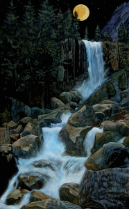 Vernal Falls Moonlight